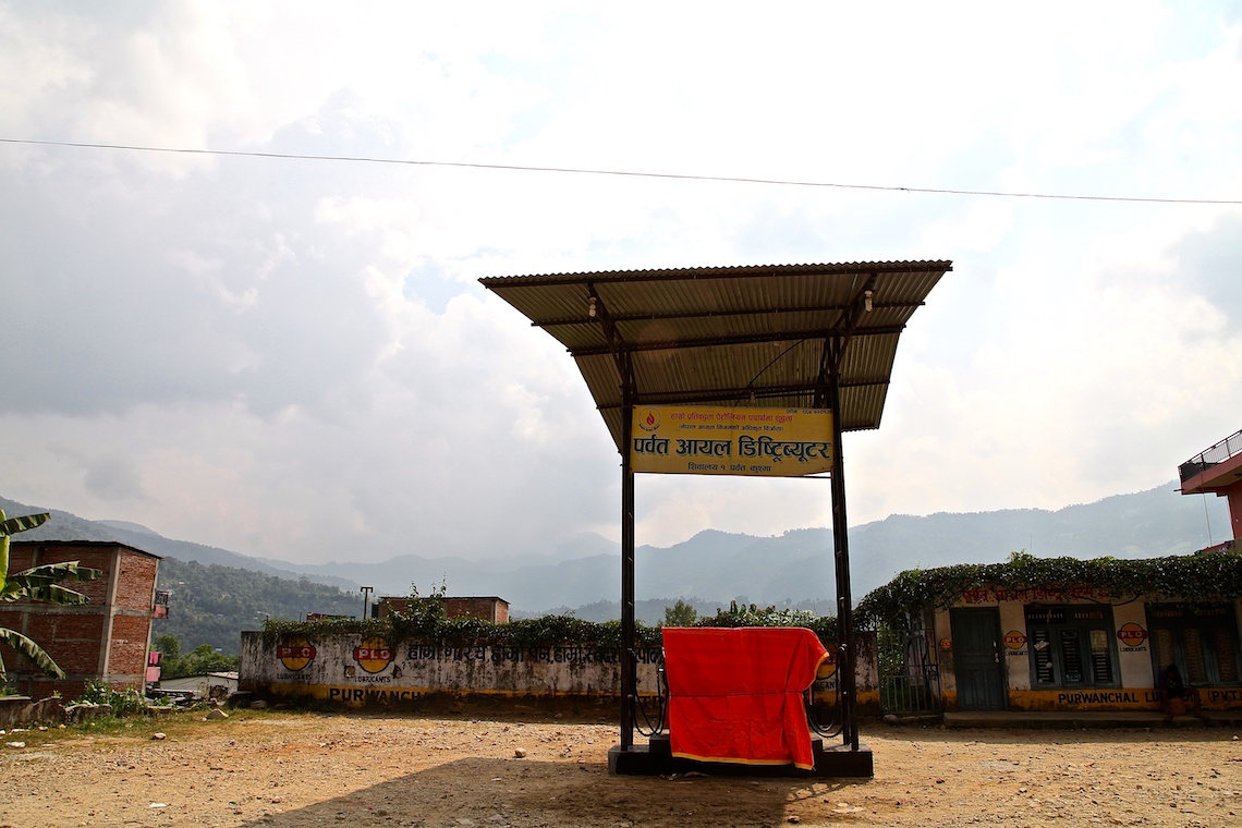 Dry petrol station in the middle of nowhere