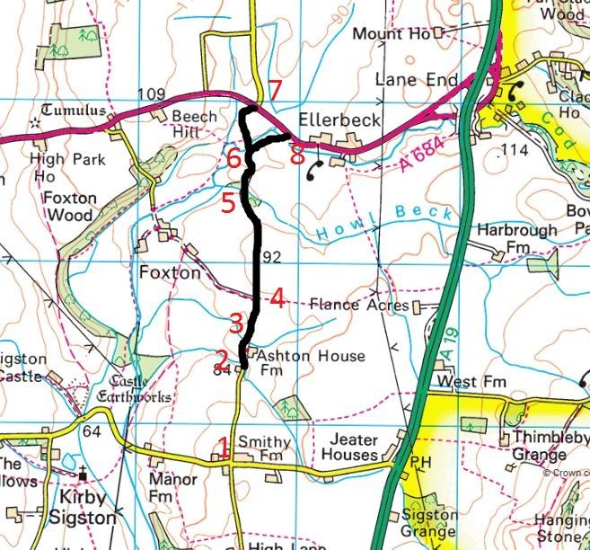 Foxton Lane Route