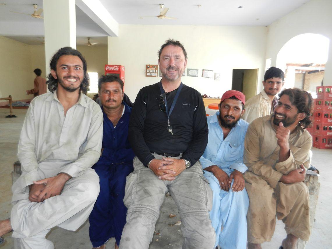 Friendly truck stop in Pakistan
