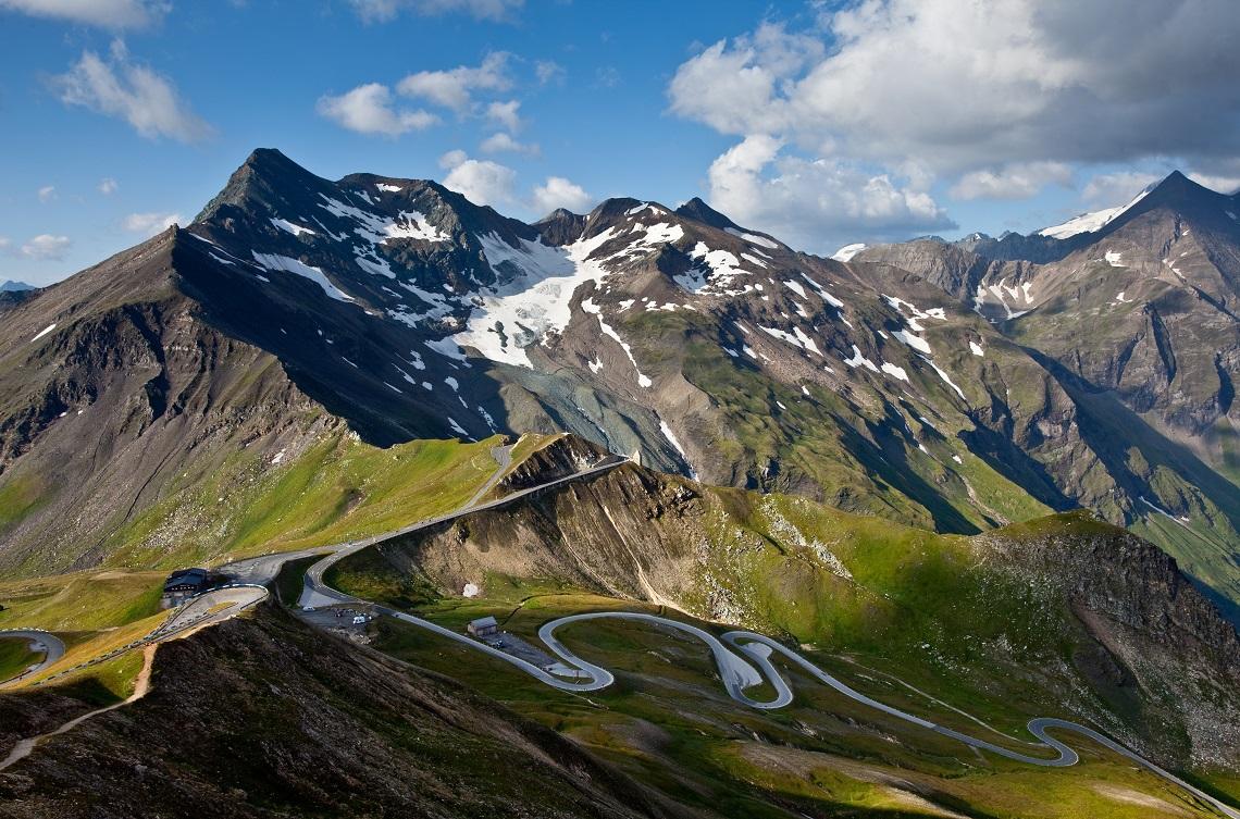 Grossglockner High Alpine Road on a sunny day