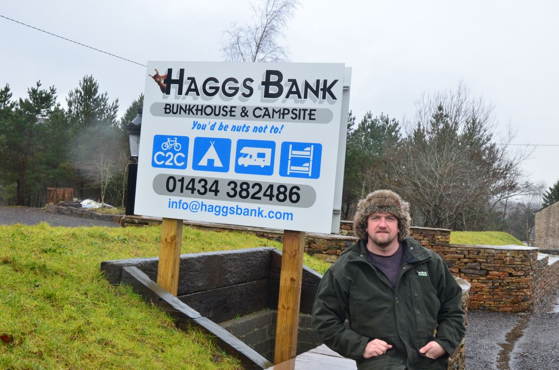 Haggs Bank Bunkhouse Sign