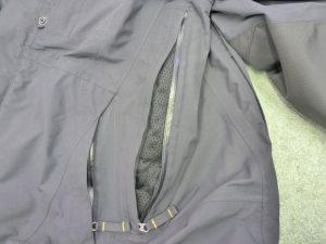 Klim side vent and pocket