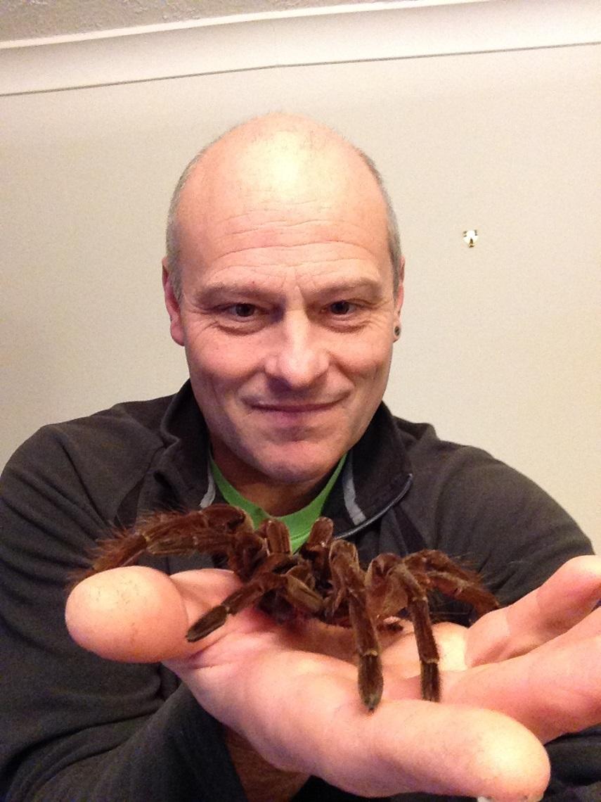 Mike and a Tarantula