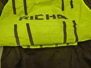 Richa hi-viz in back pocket