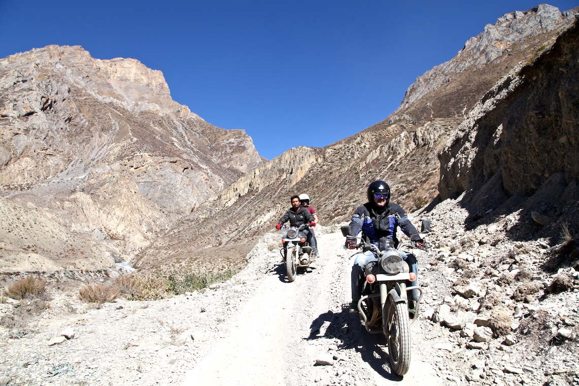 Riding in Nepal