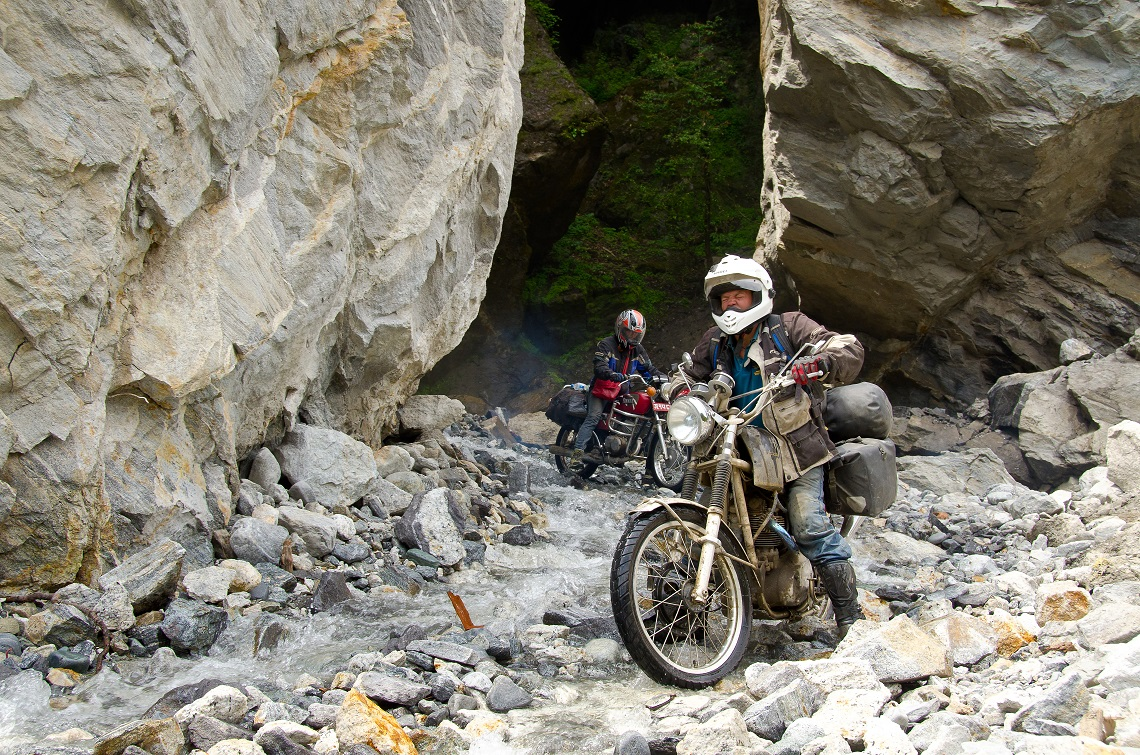 Riding in the mountains of Nepal