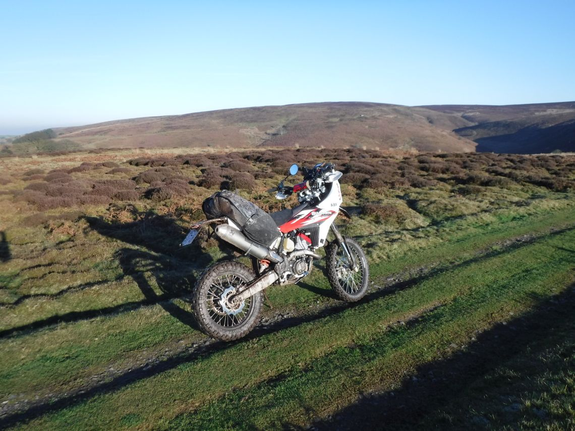 Riding on the moorland