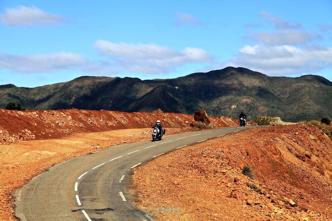 Rust red terrain