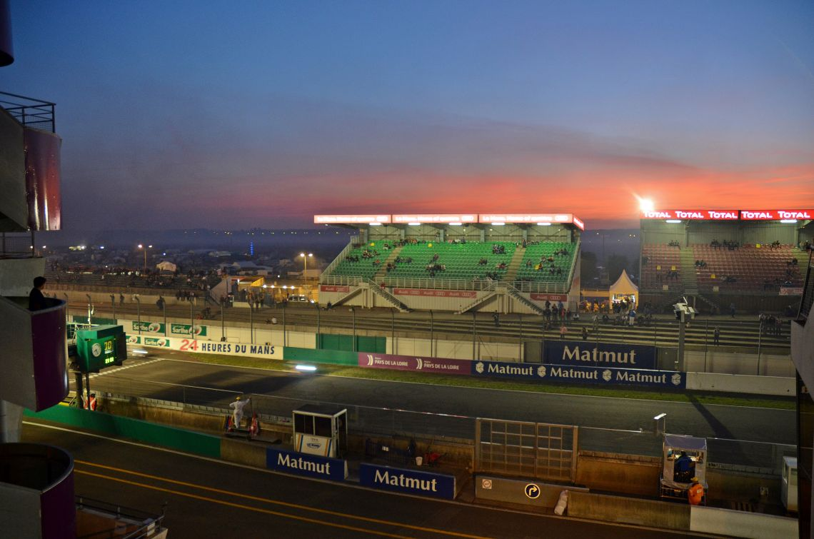 Sunset over Le Mans