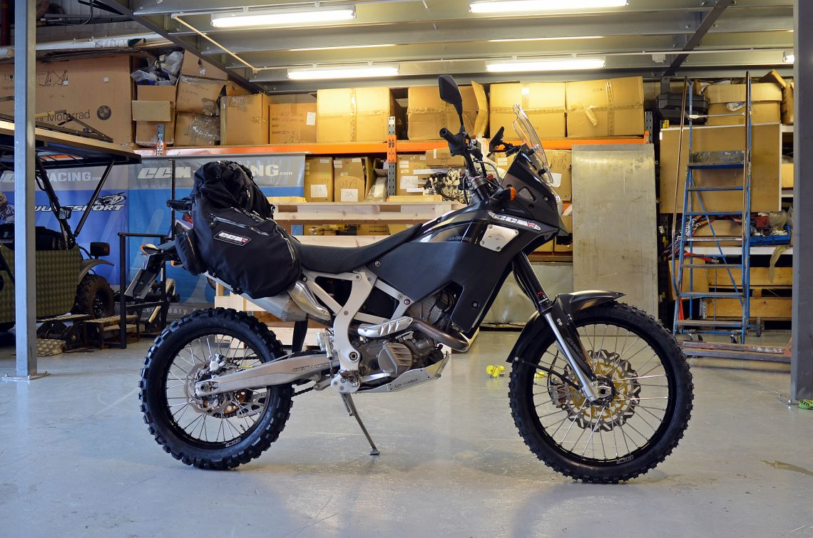 The bike originally fitted with the knobbly Michelin T63s