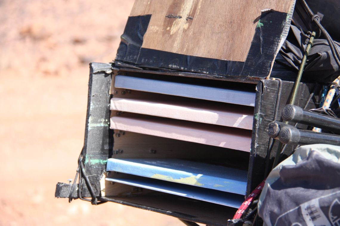 The canvas rack