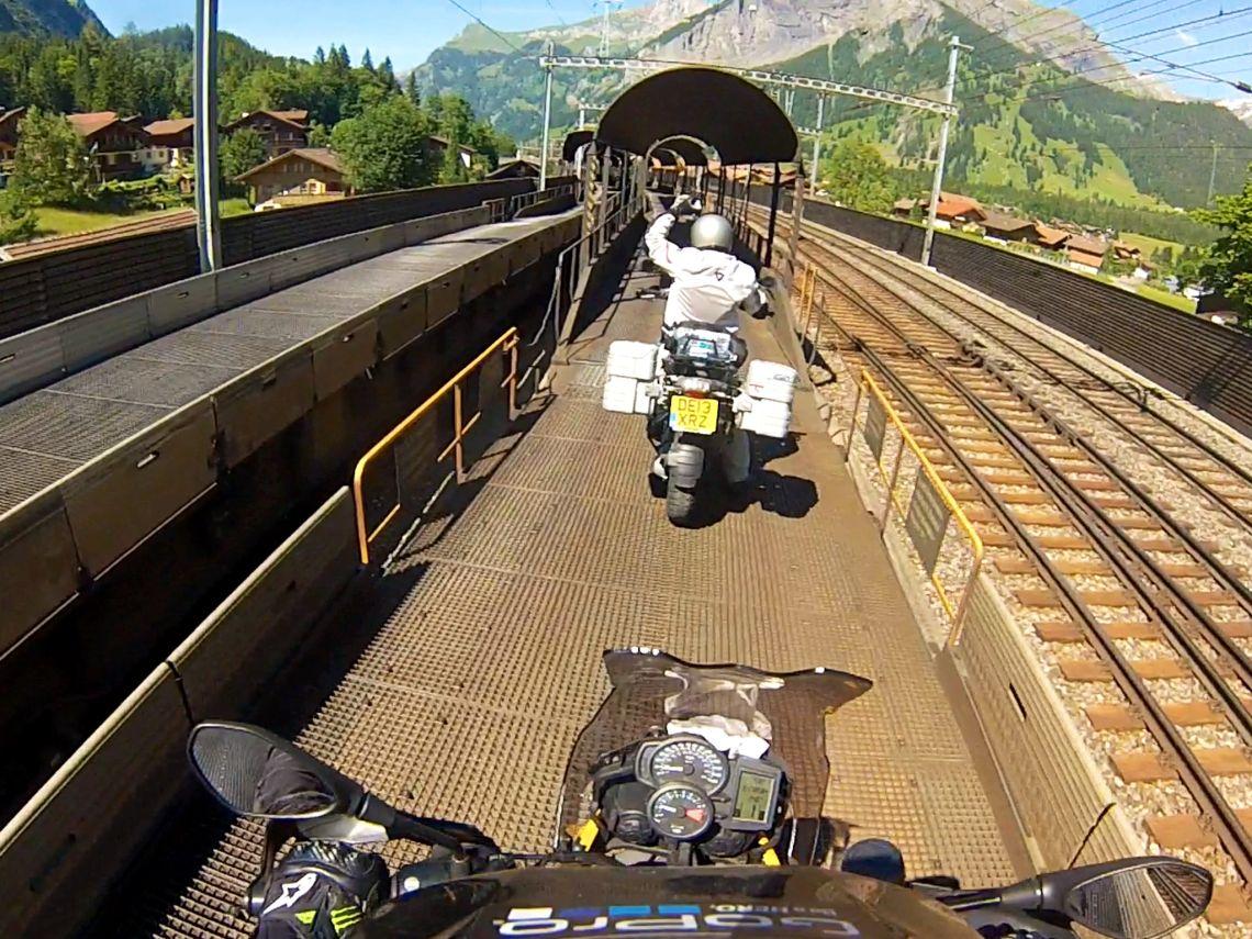 The train under the Aletsch glacier