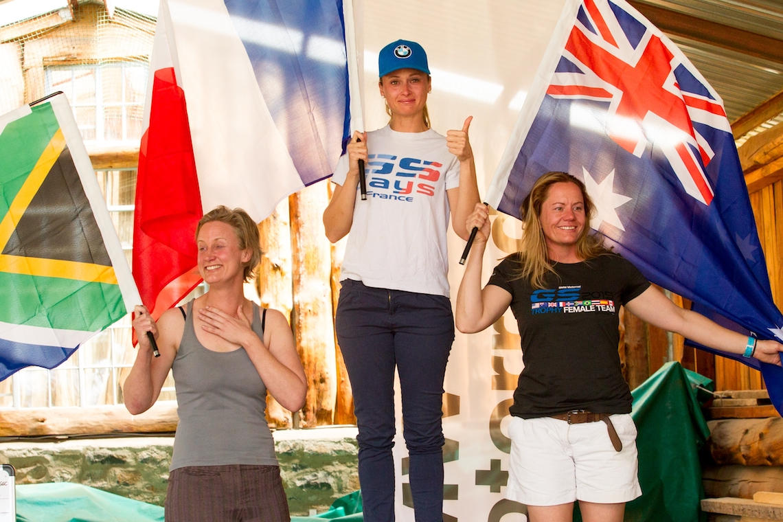 The winners on the rostrum