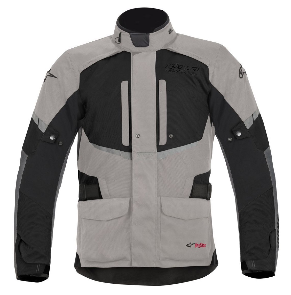 andes drystar jacket light gry blk