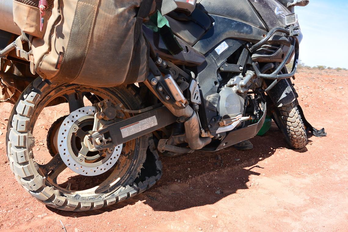 Dead tyre