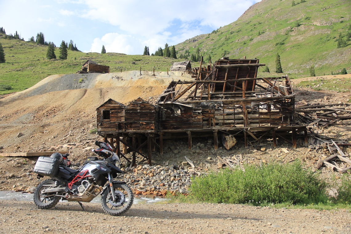 Abandoned buildings in Animas Forks