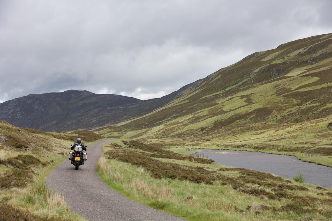 Riding through the Cairmgorms