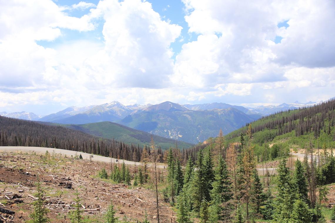 Views from the summit of Slumgullion Pass