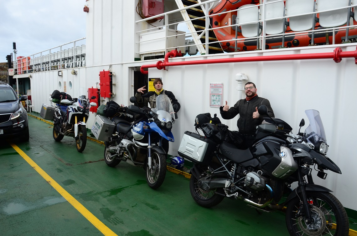 on the ferry to mull