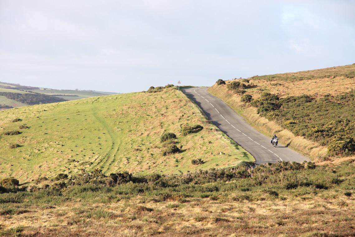Taking the Porlock to Lynton road