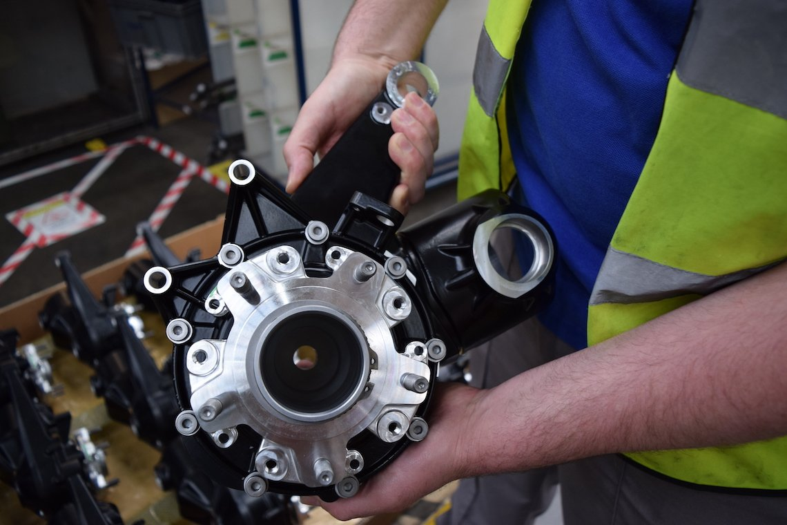 shaft drives hub waiting to be fit