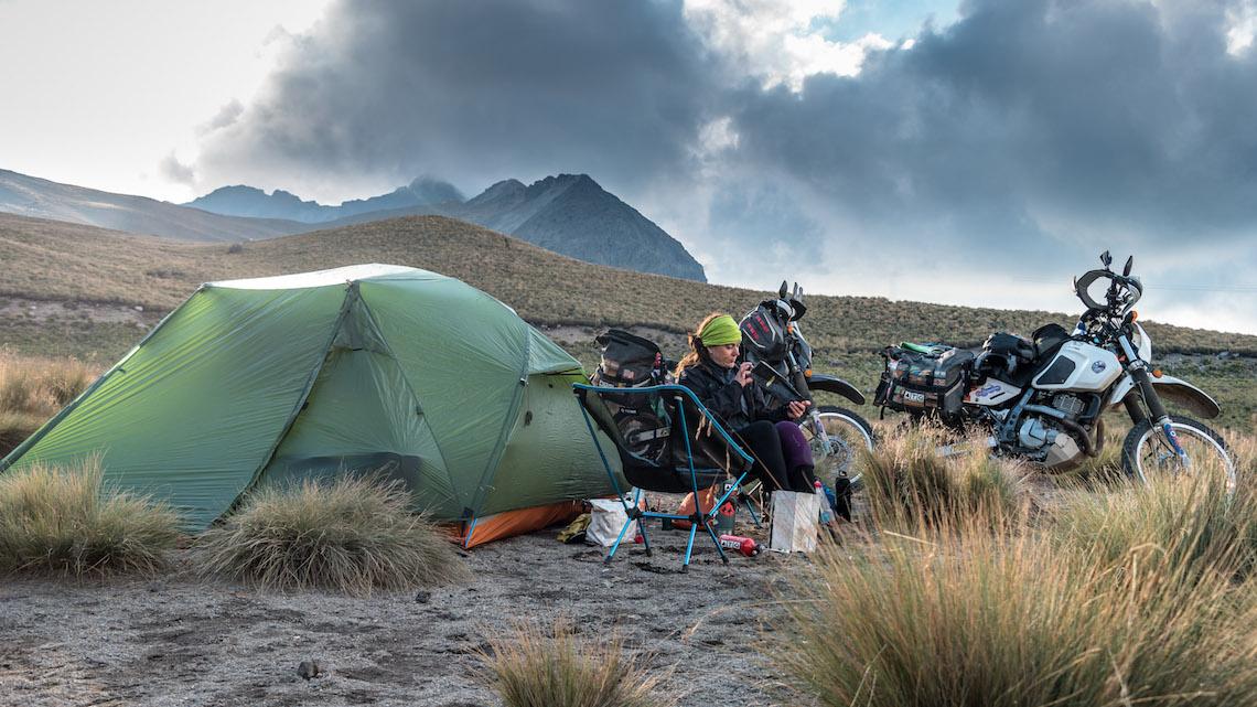 Mountainside camping