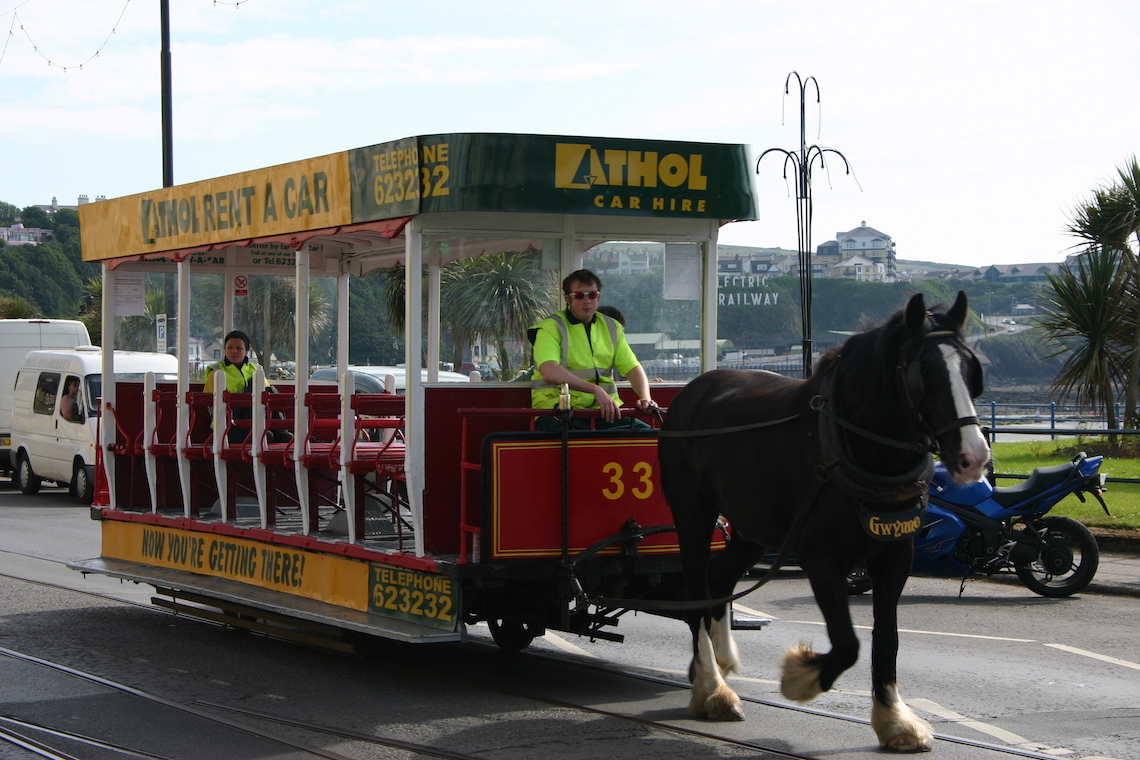 the horse drawn trams of Douglas
