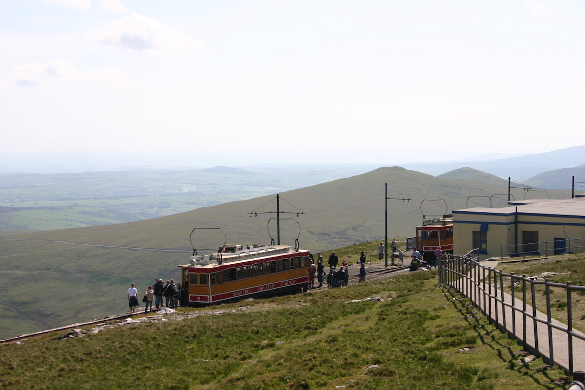 the Snaefell mountain