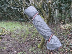 A simple shiralee made from a tarp
