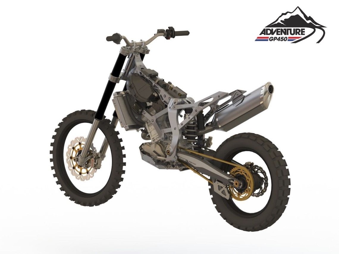 CAD models such as this helped the CCM team design and build the GP450