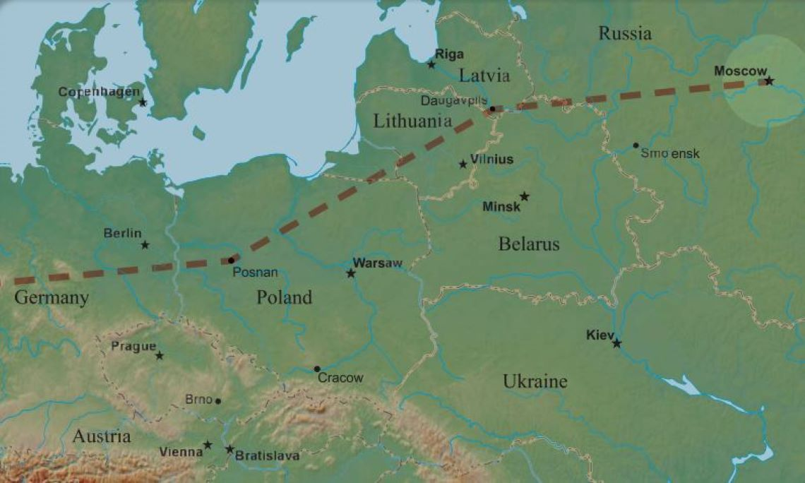 Germany-Moscow-map