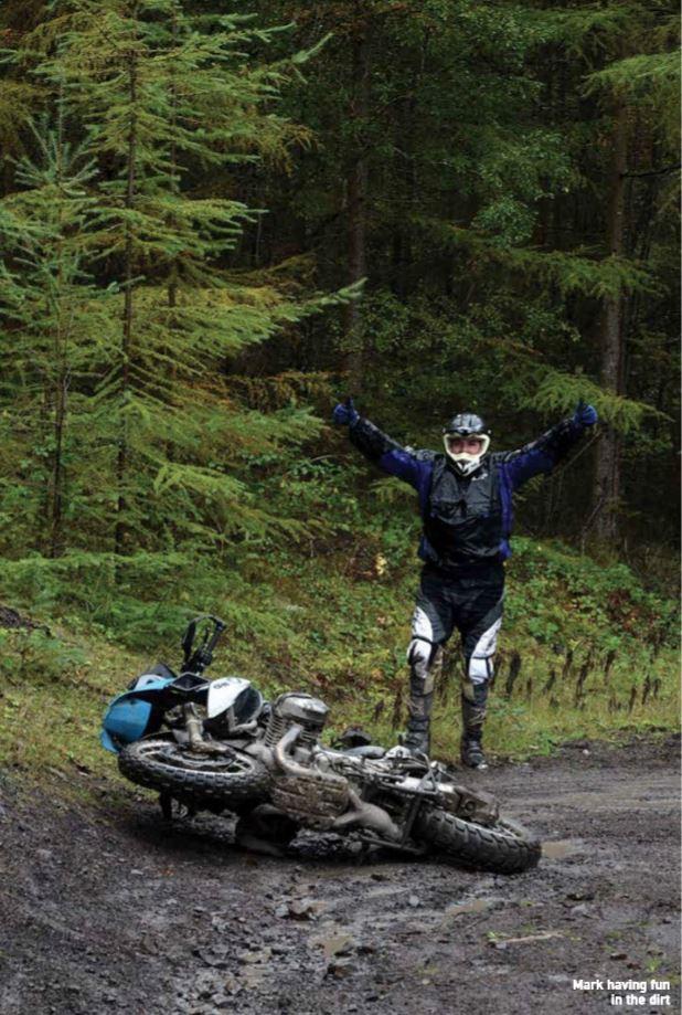 Mark having fun in the mud