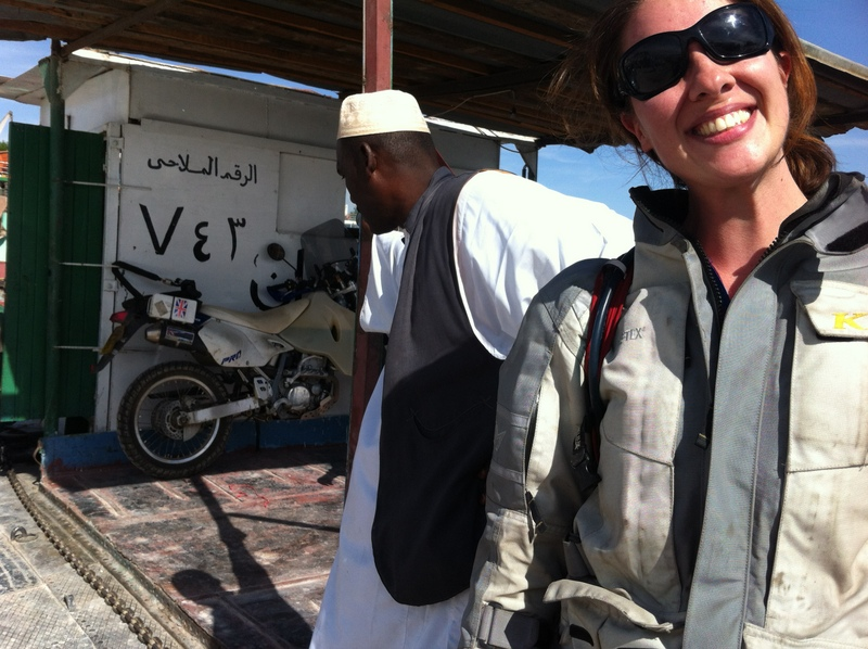 Relieved smiles on the barge from Aswan
