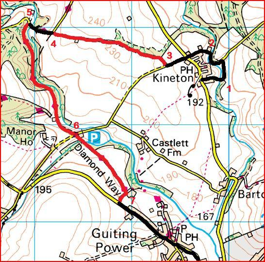 Route Points 1 to 7