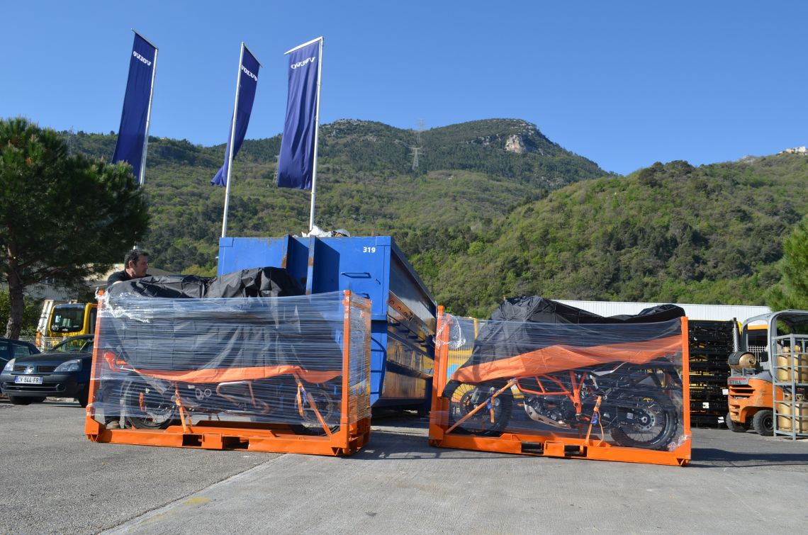 The bikes arriving in Nice