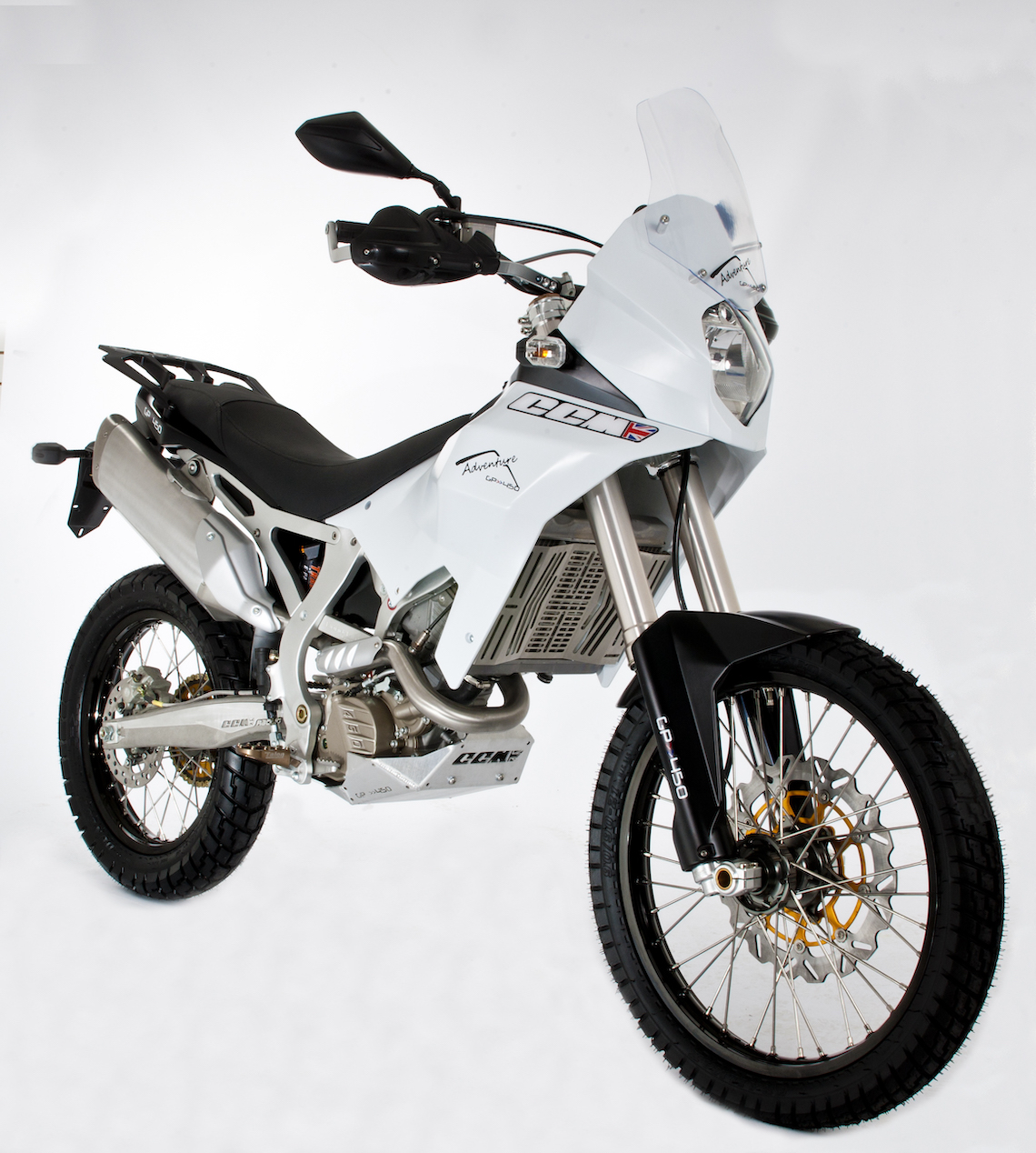 The new CCM GP450 adventure bike due for release in August 2013