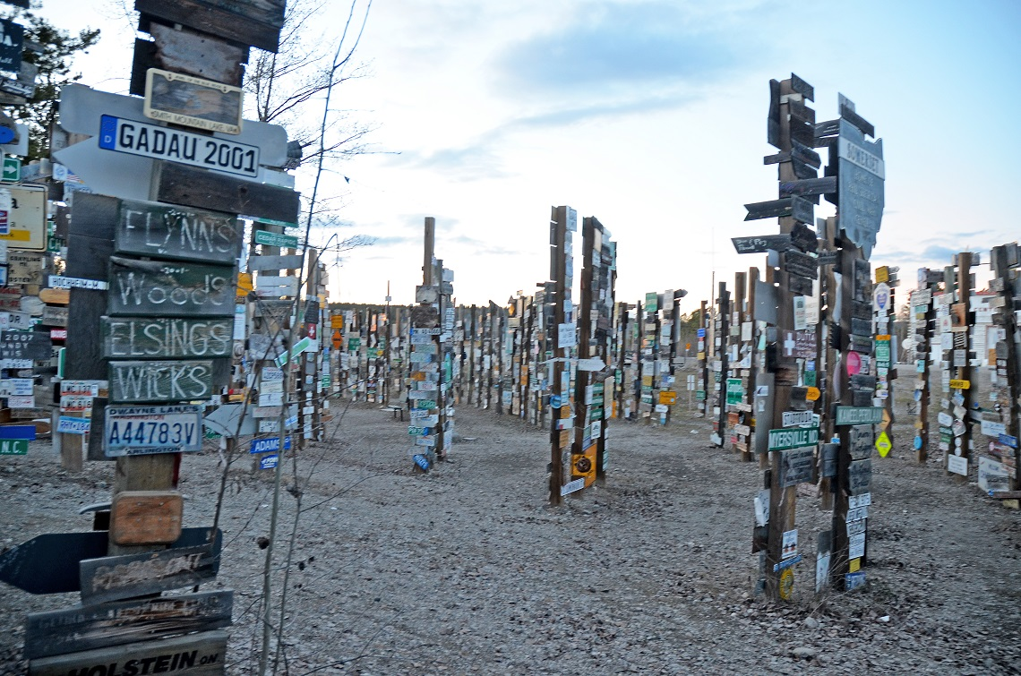 The signpost forest