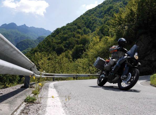 Upright riding style