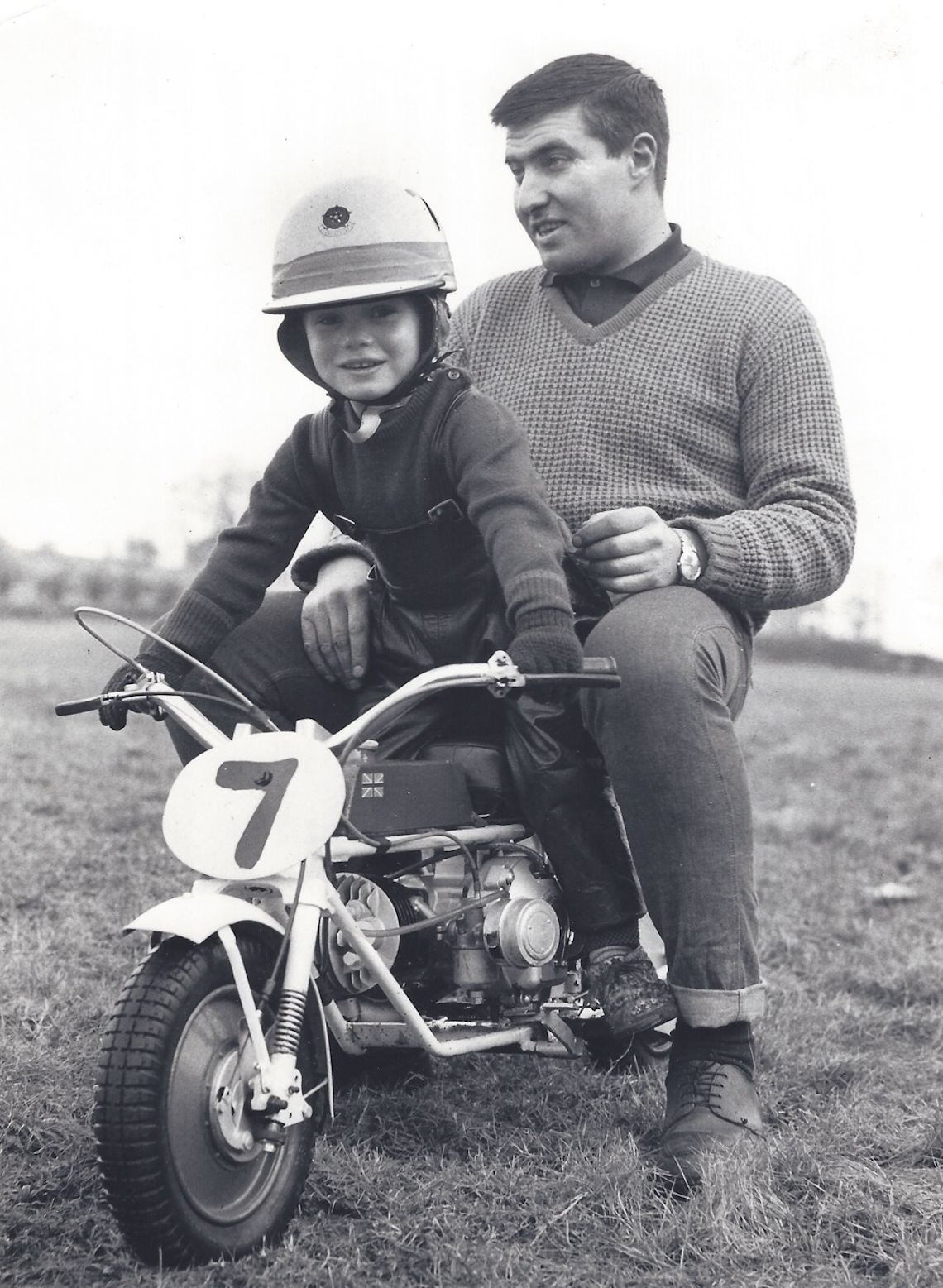 young Austin with Dad