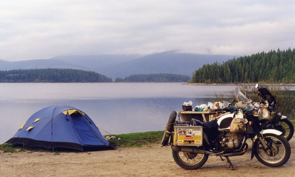 Budget-biking-Camping-by-Lake
