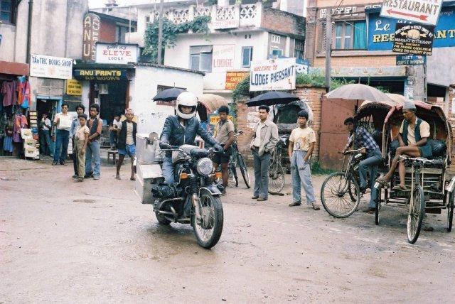 Riding out of Kathmandu