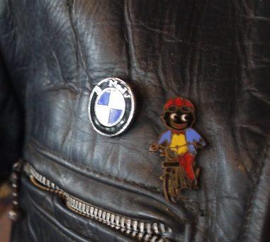 The Golly motorbike badge