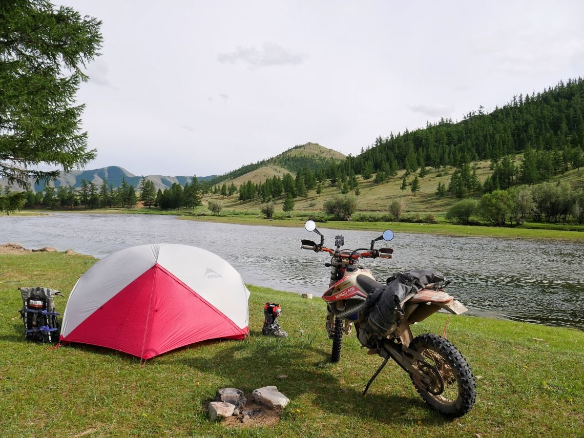 a scenic spot to camp