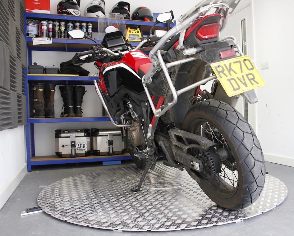 turning big motorcycle
